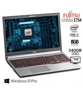 "FUJITSU LIFEBOOK E754 | INTEL CORE i7 4712MQ | 15.6"" HD | 8GB DDR3 | 240GB SSD | DVD-RW | EXLEASING"