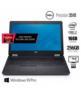 "DELL PRECISION 3510   INTEL CORE i7 6820HQ   15.6"" FULL HD   AMD FIREPRO W5130M 2GB DDR5   16GB DDR4   256GB SSD M.2   EXLEASING"
