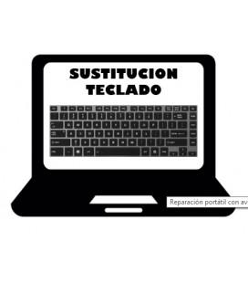 Sustitución o reparación de teclados de portátiles